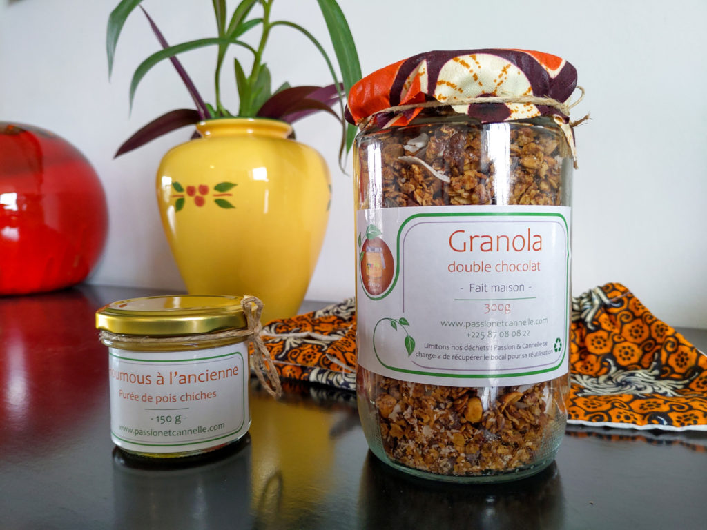 Du fait maison (houmous et granola) en vente chez Passion et Cannelle ©Olivier Coste